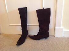 Ladies LK Bennett brown cord kitten heel boots size 3