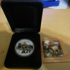 2012 Tuvalu $1 Dragons of Legend. Chinese Dragon. 1oz Silver Proof  Perth Mint!