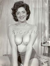 Org Vintage 1940s-60s Nude Photo- Well Endowed Woman- Sitting Pretty- Panties