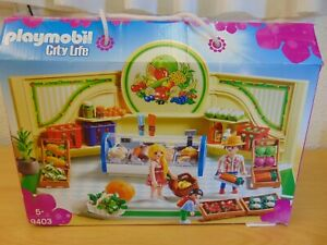 PLAYMOBIL CITY LIFE SET 9403 GROCERY STORE BOXED UNUSED CONDITION