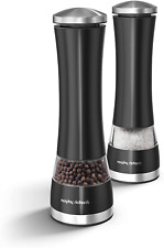 Morphy Richards Accents Electronic Salt Pepper Mill Set Stainless Steel Assorted