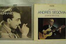 lot 2lp records DJANGO RIENHARDT The Versatile Giant  Genius of Andres Segovia