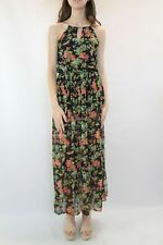 OASIS Black Floral Maxi Dress Size 8