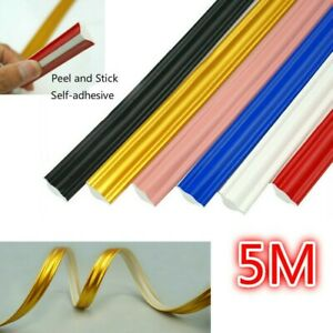 Self-adhesive Wall Molding Trim Caulk Strip Line Flexible Edge Corner Decor Home
