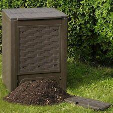 Komposter 300 Liter Rattan-Line Kunststoff Kompostbehälter Öko Kompostierer NEU