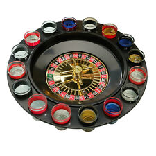 Roulette Shot Glass Drinking Game Set Spin N Shot with 2 Balls and 16 Shot Glass