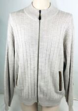 Orvis Mens Large Cardigan Sweater Elbow Patches 100% Merino Wool