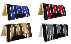 NEW WESTERN SADDLE PAD NUMNAH 32*32 GREY BROWN RED BLUE COLORS