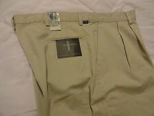 DOCKERS RECODE PLEATED CLASSIC FIT MEN'S COTTON PANTS- KHAKI (40-41 x 32) NWT
