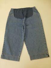 Announcements Maternity Womens Size XL Blue Capri Jeans Good Condition