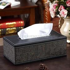 Home Car Ancient Egypt Rectangle PU Leather Napkin Paper Tissue Box Cover Holder