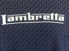 Lambretta Mens Shirt Short Sleeve Purple With Geomtric Pattern Medium