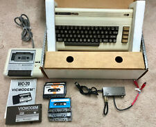 Vintage Commodore VIC-20 Computer, VicModem, Cassette Tape, Power Supply WORKS