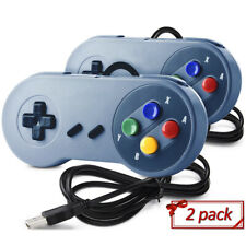 2 Pack SNES Super Controller GamePad USB port for PC computer Raspberry Pi3/ 3B+