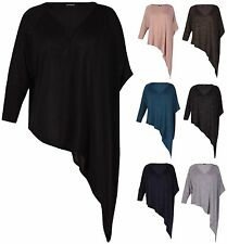 Casual V Neck Hip Length Tops & Shirts Plus Size for Women