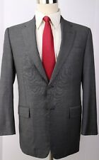 Hickey Freeman Hand Tailored Gray Solid Wool Two Button Suit 39 R 32 30 Pants
