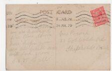 Mrs Pocock, 21 Cobbold Road, Shepherds Bush, London 1920 Postcard, B275