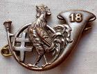 insigne 1939 18° BCA CHASSEURS ALPINS AB déposé coq ORIGINAL WWII French Badge