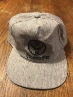 Used JAGERMEISTER ballcap hat Gray with black emblem Adjustable back band