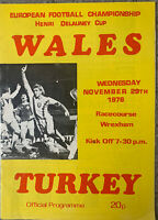 WALES V TURKEY, HENRI DELAUNEY CUP 1978/79