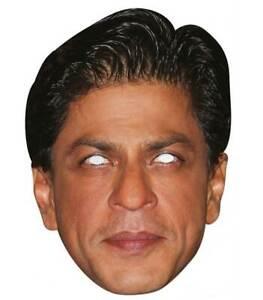 Shah Rukh Khan Célébrité 2D Simple Carte Fête Masque Visage - Bollywood Étoile