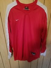 Nike Sports Pullover Color Red Size Medium 100% Polyester Nice!