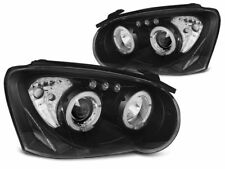 HEADLIGHTS LPSU04 SUBARU IMPREZA II GD 2003 2004 2005 ANGEL EYES BLACK