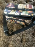 Vintage Wine Tapestry Makeup Cosmetic Train Travel Hard Case Carry On Luggage
