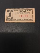 Military Trade Token Chit Wwii Prisoner War Pow Texas Tx Camp Hearne Canteen