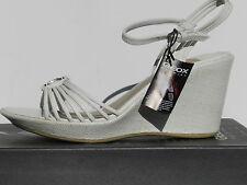 Geox Alena Chaussures Femme 39 Sandales Espadrilles Lanières Escarpins UK6 Neuf