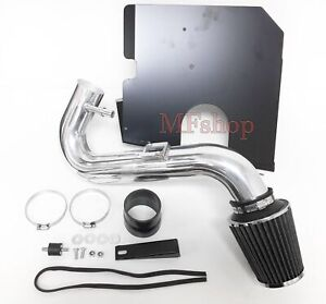 Black Cold Air Intake System w//Heat Shield+Blue Filter Replacement for Ford Mustang SN95 3.8L 99-04