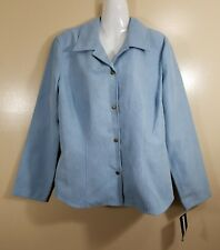 Requirements New With Tags Women Jacket Sports Coat Blazer Baby Blue Size Large