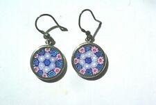 Sterling Silver MILLRFIORI Glass Drop Earrings