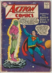 Action Comics #242 GD- 1.8  --> Origin and 1st appearance Braniac <--  DC 1958