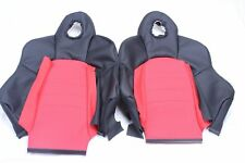 Custom Made Honda S2000 AP1 Real Leather Seat Covers Black and Red