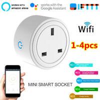 1-4x Smart WIFI Plug Socket Power Switch APP Remote Control Amazon Alexa/Google*