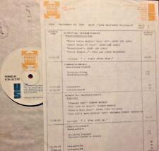 RADIO SHOW: SEPT B-DAYS 9/29/87 SET w/OLIVIA NEWTON-JOHN 2 INTERVIEWS & 2 TUNES