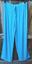 ART TO WEAR 4 PANT IN CLASSIC SOLID TURQUOISE BY MISSION CANYON,ONE SIZE, NWT!,
