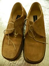 Kenneth Cole Men's Beige Sand Suede Lace Up Moccasin Shoes Size 8 Italy!