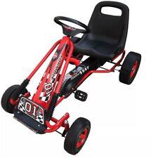 I bambini a pedali go-kart Ride-on Car con ruote in gomma RACER ROSSO all'aperto per K..
