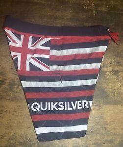 Quiksilver Hawaiian Flag Red White Blue Board Shorts
