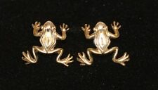 Pair Signed Sergio Bustamante Mexico Sterling Silver 925 Figural Frog Earrings