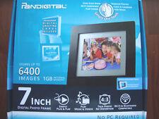 PanDigital PAN7000DW 7-Inch Digital Picture Frame 6400 iMAGES 1GB Memory NIB