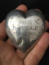 Coeur de Marie  Reliquaire Heart of marries Reliquary Argent Silver 1855