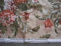 """Lillian August rose floral upholstery fabric 3.3 yds 54"""" wide"""