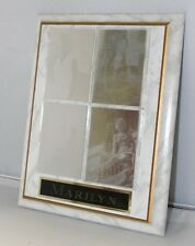 """Marilyn Monroe 8""""x10"""" Hologram (4 Cards) Marble Plaque Frame ~ WH"""