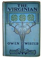 Vintage Book, THE VIRGINIAN By Owen Wister 1904 Hardcover Good condition