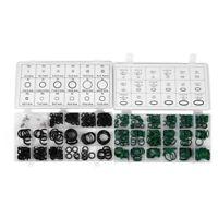 495 PCS 36 tailles Kit de joint torique Metrique noir et vert joint torique S P8