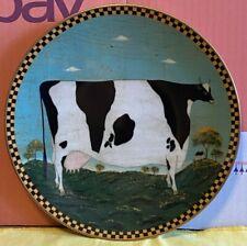 More details for porcelain-plate-warren kimble-barnyard animals-holstein cow-p.no a6923-ornament