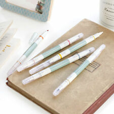 2 Way Retro Pen _iConic_ Set of 5 Color Pens -Fine/Thick Dual Nibs Highlighter